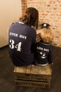 Polo garçon et papa en coton bio à personnaliser