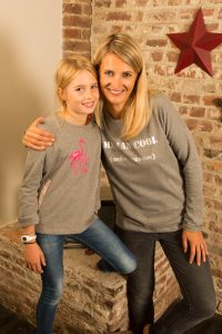 sweat fille et maman en coton bio à personnaliser
